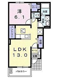 レジデンス茂[1階]の間取り