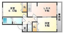 リヴェール新倉敷 B[1階]の間取り