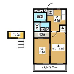 サバトシティアーム[1階]の間取り