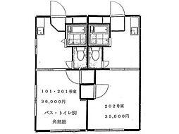 ファミーユ高幡[2階]の間取り