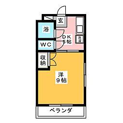 ボンセジュール・ナガイ[5階]の間取り