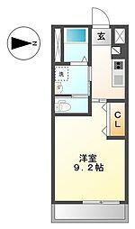 神奈川県横浜市泉区中田東2丁目の賃貸アパートの間取り