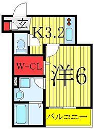 Confor Maison 1階1Kの間取り