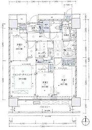ザ・パークハウス晴海タワーズクロノレジデンス[9階]の間取り