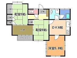 [一戸建] 栃木県宇都宮市西一の沢町 の賃貸【/】の間取り
