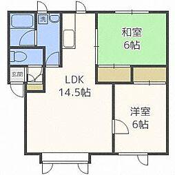 コーポ・オカジマ[2階]の間取り