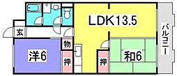 コーポ井口台[3階]の間取り