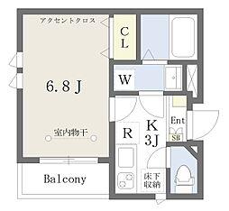 東京メトロ丸ノ内線 新大塚駅 徒歩1分の賃貸アパート 1階1Kの間取り