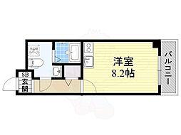 大阪モノレール彩都線 豊川駅 徒歩8分の賃貸マンション 1階ワンルームの間取り