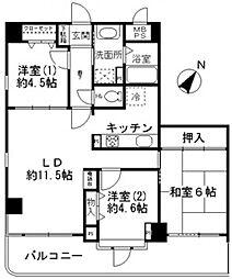 ルリエ横浜宮川町[1003号室号室]の間取り