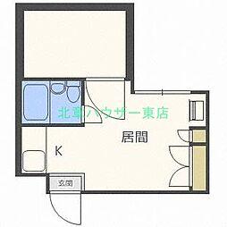 北海道札幌市東区北十八条東6丁目の賃貸マンションの間取り