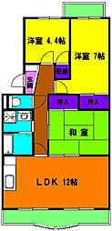 静岡県浜松市南区遠州浜2丁目の賃貸マンションの間取り