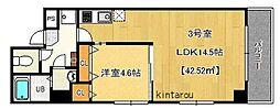 千葉県千葉市中央区富士見1丁目の賃貸マンションの間取り