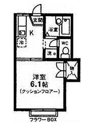 オーキッドハウス bt[206kk号室]の間取り