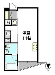 カーサベラ フィオーレ[4階]の間取り