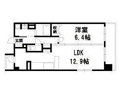 インベスト京都白川[1階]の間取り