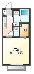 エステートミヤマ[1階]の間取り
