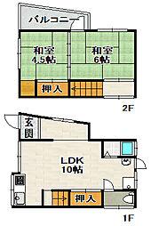 [一戸建] 兵庫県宝塚市南ひばりガ丘2丁目 の賃貸【/】の間取り