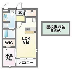 千葉県船橋市田喜野井7の賃貸アパートの間取り