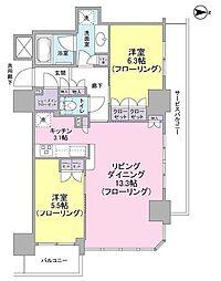 ブランズタワー・ウェリス心斎橋SOUTH[7階]の間取り