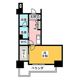グラン・アベニュー鶴舞公園 12階1Kの間取り