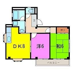 東海市 i66[0301号室]の間取り