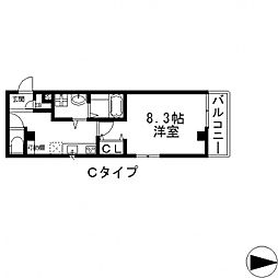 エムズコート小阪[203号室号室]の間取り