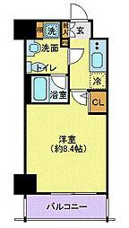 JR京葉線 潮見駅 徒歩3分の賃貸マンション 2階1Kの間取り