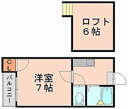ダイアスター御供所[2階]の間取り