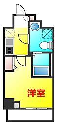 横浜市営地下鉄ブルーライン 蒔田駅 徒歩5分の賃貸マンション 6階1Kの間取り