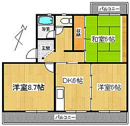 コンフォール賀茂[1階]の間取り