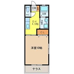 セグラ小桑島[101号室]の間取り