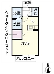 アムールK[1階]の間取り