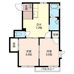 ファミーリエ[2階]の間取り