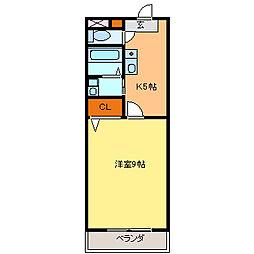 愛知県常滑市瀬木町3丁目の賃貸マンションの間取り