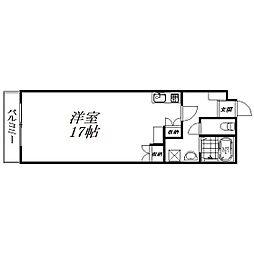 静岡県浜松市中区上浅田2丁目の賃貸マンションの間取り