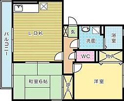エトワール嵐山[2階]の間取り