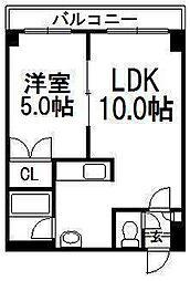 北海道札幌市豊平区豊平四条2の賃貸マンションの間取り