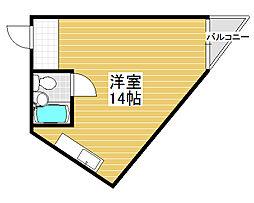 メゾン・サンキュー[4階]の間取り