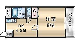 GARDEN TREE岡町[301号室]の間取り