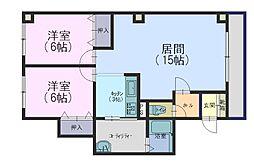北海道札幌市手稲区前田二条4丁目の賃貸マンションの間取り