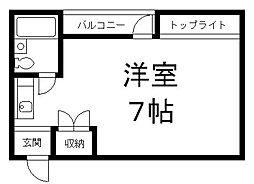 京都府京都市伏見区淀本町の賃貸マンションの間取り