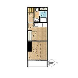 ル・ソレイユ[4階]の間取り