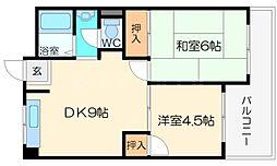 石川マンション[2階]の間取り