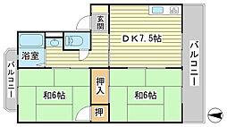 日山マンション[4-5号室]の間取り