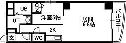 札幌市営東西線 バスセンター前駅 徒歩3分の賃貸マンション 7階1LDKの間取り
