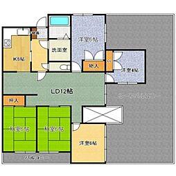 東山台スカイマンション[702号室]の間取り