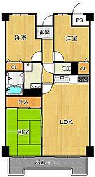 LUXE武庫之荘[4階]の間取り