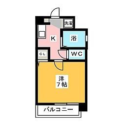 オネスト県庁前[3階]の間取り