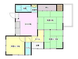 [テラスハウス] 広島県広島市西区己斐上4丁目 の賃貸【広島県 / 広島市西区】の間取り